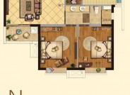 建筑面积81㎡,2室2厅1卫