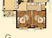 建筑面积80.97㎡,2室2厅1卫