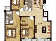 F1户型 126㎡ 三室两厅两卫