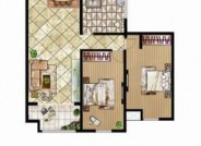 D户型 两室两厅一卫 110.94㎡