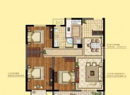 三期建面约119㎡ 三室两厅一卫户型