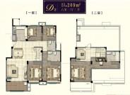 洋房 建面约209㎡ 六室三厅三卫户型