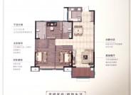 B户型 建面约120㎡ 三室两厅两卫