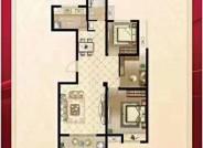 B户型 3室2厅1卫 建筑面积108.21㎡