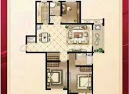 E2户型 3室2厅1卫 建筑面积129.77㎡