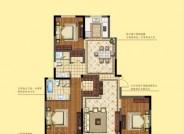 三期建面约150㎡ 三室两厅两卫户型