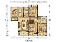 C户型,3室2厅2卫,142平米