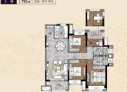 建筑面积115㎡,四室两厅两卫
