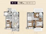 建筑面积148㎡,四室两厅三卫