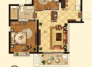 建筑面积81.7㎡,2室2厅1卫