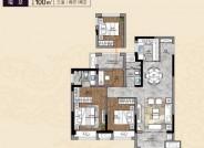 建筑面积100㎡,三室两厅两卫