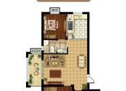 A户型 三室两厅一卫 110.86㎡