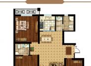 B1户型 三室两厅两卫 121.75㎡
