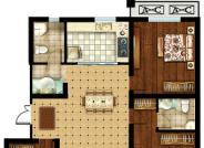 D户型 三室两厅两卫 125.22㎡